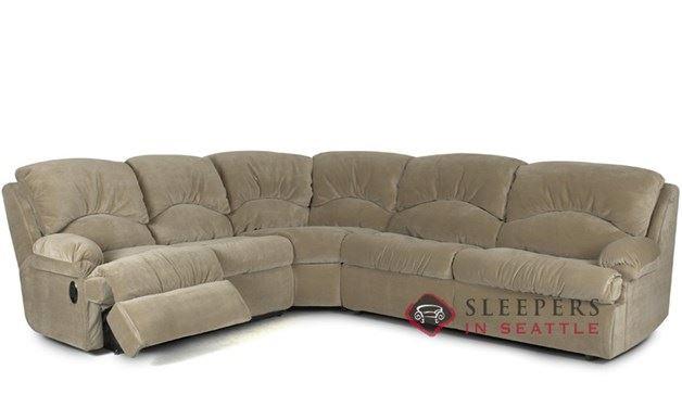 Savvy Milan 3 Piece Reclining True Sectional Sleeper