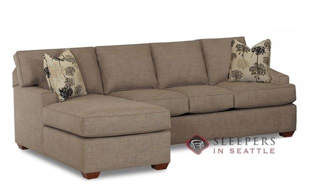 Savvy Palo Alto Chaise Sectional Sleeper shown in Dumdum Stone