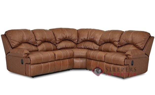 Savvy Milan 3-Piece True Sectional Leather Sleeper