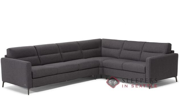 Natuzzi Editions Caffaro True Sectional Leather Sleeper Sofa (C008-468/469/011/016/017)