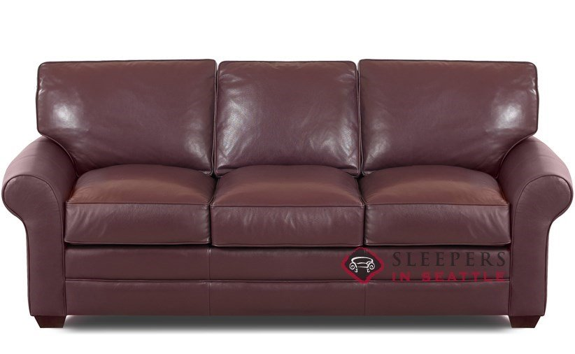 Customize and Personalize Montreal Queen Leather Sofa by ...