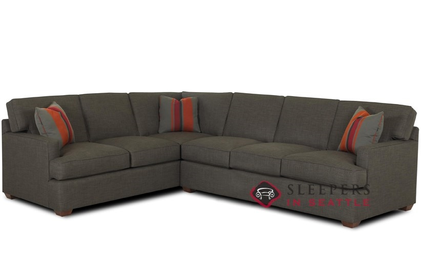 Customize and personalize lincoln true sectional fabric Sleeper sofa sectional