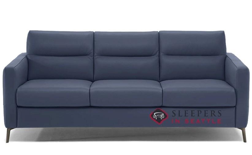 Navy Sleeper Sofa Quick Ship Caffaro Queen Leather Sofa By