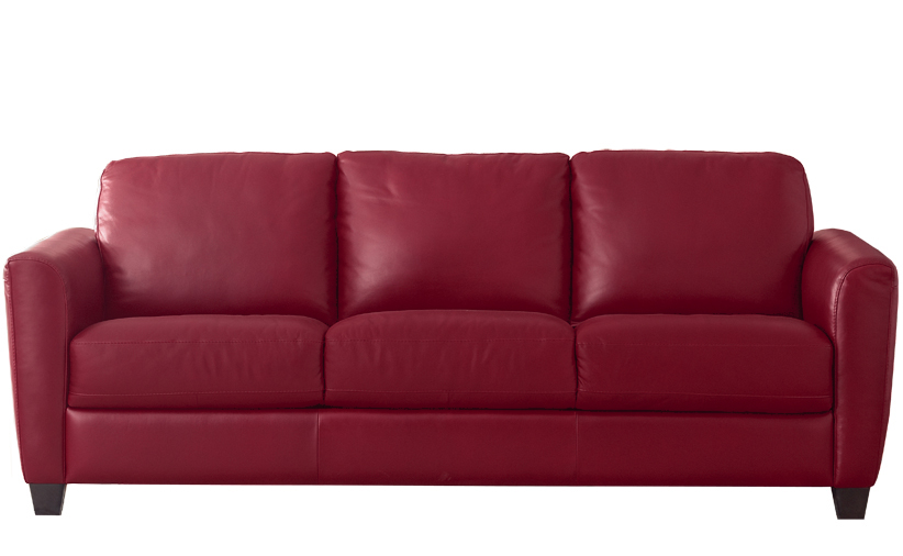 B592 Natuzzi Queen Sleeper in Denver Red