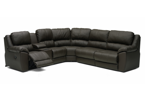 Benson Large Reclining True Sectional Leather Sleeper Sofa with Console  sc 1 st  Sleepers In Seattle : sectional with bed - Sectionals, Sofas & Couches