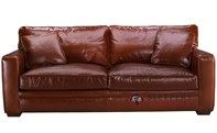 Savvy Houston Leather Queen Sleeper Sofa with Down-Blend Cushions