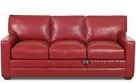 Savvy Palo Alto Leather Queen Sleeper Sofa with...