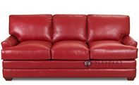 Savvy Gold Coast Leather Sofa with Optional Dow...