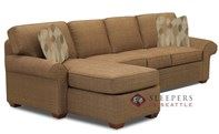 Savvy Seattle Chaise Sectional Full Sleeper Sof...
