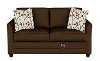 Savvy Valencia Sleeper Sofa in Microsuede Chocolate (Full)