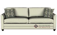 Savvy Valencia Sleeper Sofa in Microsuede Oyster (Queen)