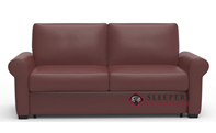 Palliser Sleepover My Comfort Top-Grain Leather Full Sleeper Sofa with Serta's Gel-Memory Foam Mattress