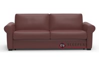 Palliser Sleepover My Comfort 2-Cushion Leather Queen Sleeper Sofa with Serta's Gel-Memory Foam Mattress
