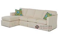 Savvy Jersey Large Chaise Sectional Sofa with S...