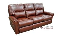 Omnia Robertson Reclining Leather Sofa