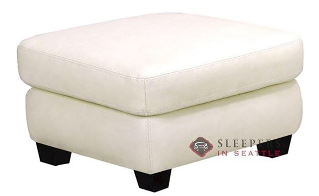 Leather Living Condo Leather Ottoman