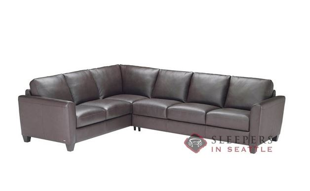 Natuzzi B592 True Sectional in Belfast Dark Brown