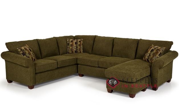 Stanton 664 True Sectional Sofa with Chaise in Longbranch Verde (RAF)