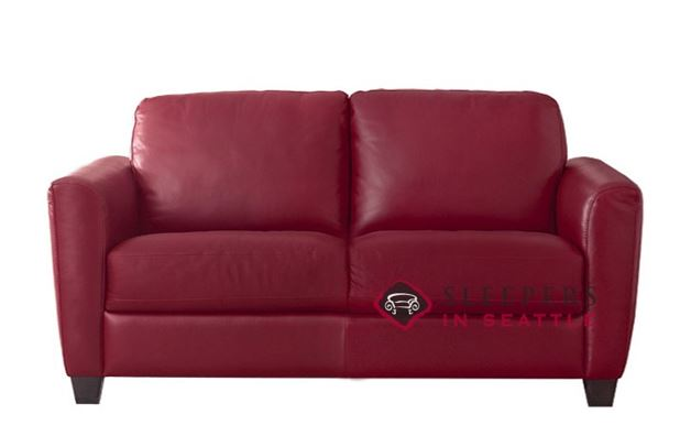 Natuzzi B592 Loveseat in Belfast Red