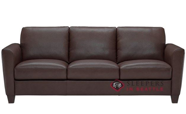 Natuzzi B592 Leather Sleeper in Denver Dark Brown (Queen)