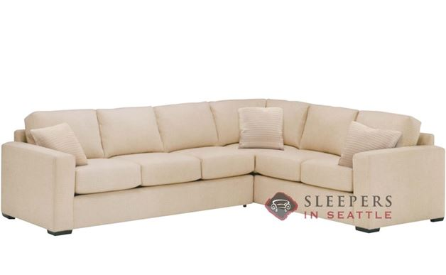 Lazar Sutton Place True Sectional with 3-Cushion Sleeper (Queen)