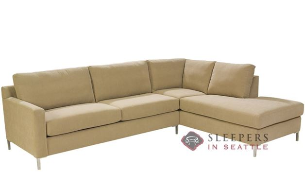 Lazar Soho II Loveseat Chaise Sectional with 2-Cushion Sleeper (Queen)