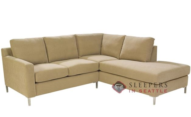 Lazar Soho Loveseat Chaise Sectional with 2-Cushion Sleeper (Twin)