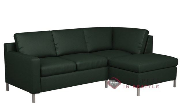Lazar Soho Leather Chaise Sectional with 2-Cushion Sleeper (Twin)