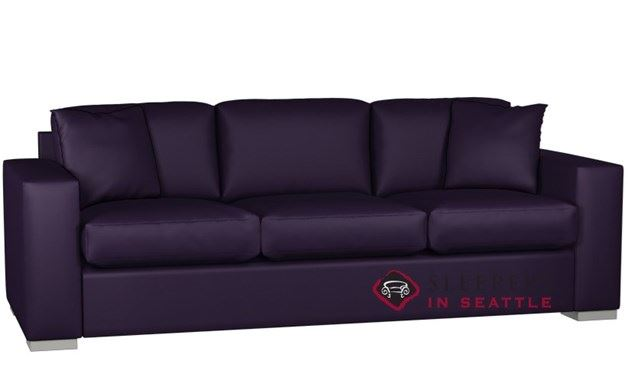 Lazar Sutton Place 3-Cushion Leather Sleeper (Queen)