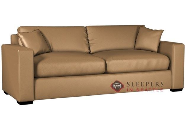 Lazar Sutton Place II 2-Cushion Leather Sleeper (Queen)