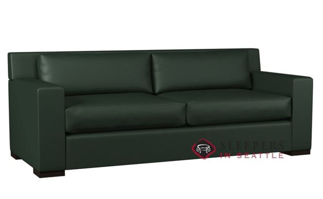 Lazar Corvo 2-Cushion Leather Sofa