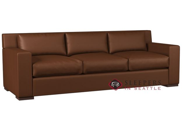Lazar Corvo 3-Cushion Leather Sofa