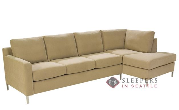 Lazar Soho Chaise Sectional with 3-Cushion Sleeper (Queen)