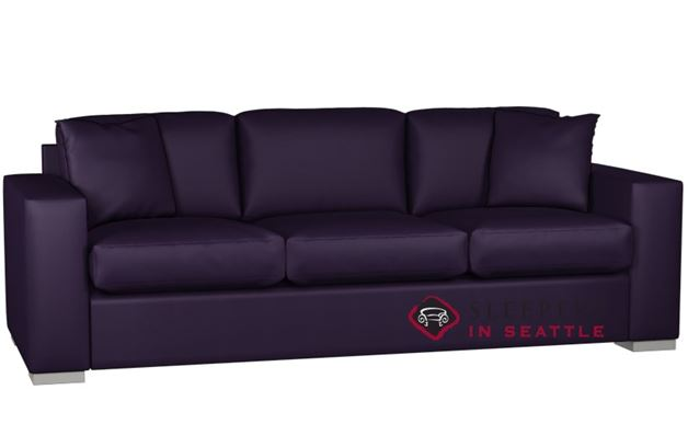 Lazar Industries Sutton Place 3-Cushion Leather Sofa