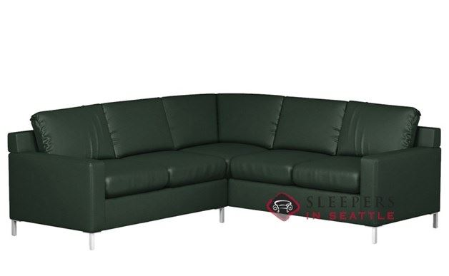 Lazar Soho Leather True Sectional with 2-Cushion Sleeper (Twin)