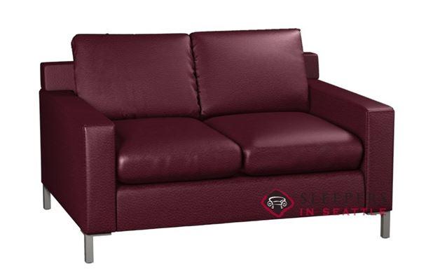 Lazar Industries Soho 2-Cushion Leather Loveseat