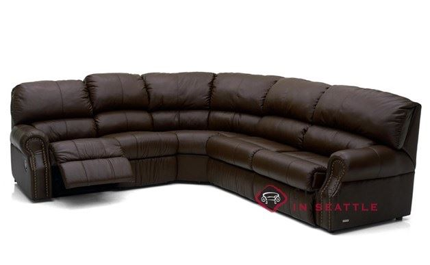 Palliser Charleston Reclining True Sectional Top-Grain Leather Full Sleeper  Sofa--Power Upgrade Available