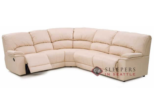 Dallin Reclining True Sectional Leather Sleeper Sofa
