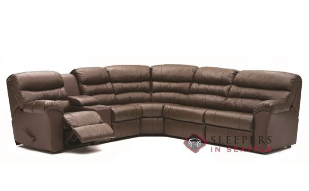 Palliser Durant Large Reclining True Sectional with Console