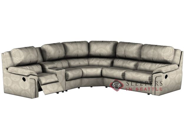 Palliser Daley Large Reclining True Sectional with Console (Power Upgrade Available)
