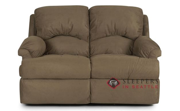 Savvy Milan Reclining Leather Loveseat