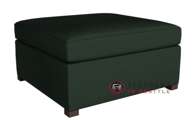 The Terra Leather Storage Ottoman