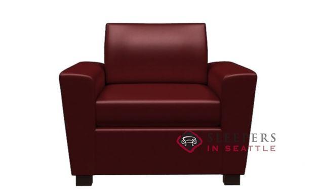 Lazar Geo Leather Arm Chair