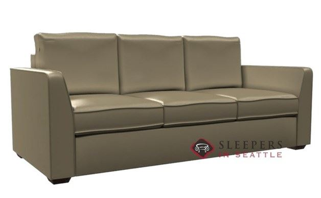 Lazar Strata 3-Cushion Leather Sleeper (Queen)