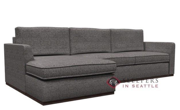 Lazar Strata Chaise Sectional with 2-Cushion Condo Sleeper (Queen)