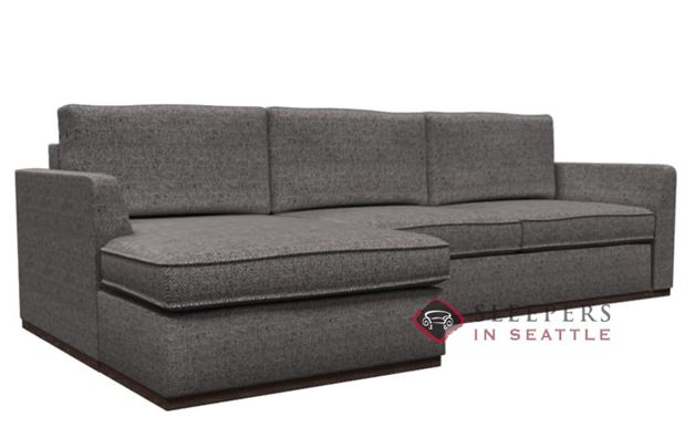 Lazar Earth Designs Strata Chaise Sectional with 2-Cushion Condo Sofa