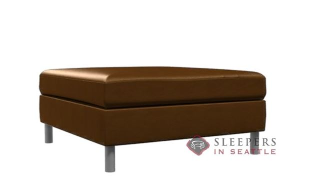 Lazar Industries Soho Leather Cocktail Ottoman