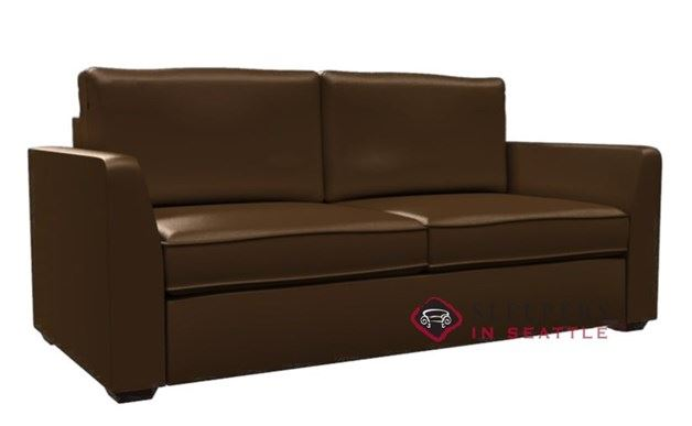 Lazar Strata 2-Cushion Leather Condo Sleeper (Queen)