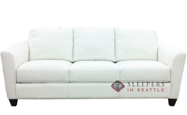 Natuzzi B592 Leather Sleeper in Belfast White (Queen)