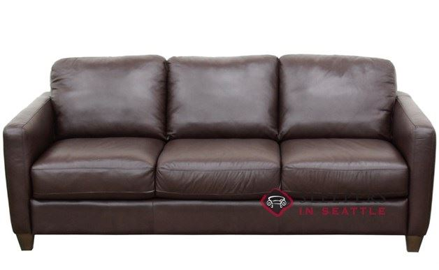 Natuzzi B591 Leather Sleeper in Belfast Dark Brown (Queen)